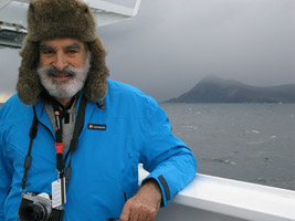 Elias Kulukundis passing Cape Horn on his back from Antarctica, 2012