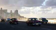 photo by Tina Dietz - Malecon boulevard runs for miles along the side of Havana where the Hotel Nacional is situated, opposite the Morro Castle